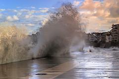 High tide (Ludovic Lagadec) Tags: stmalo grandemarée water waves wave seascape sea sky saintmalo morning marin marée mer manche matin bretagne breizh brittany beach bretagnenord bzh ludoviclagadec landscape lesillon tempete travel city storm