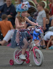 Training Wheels (Scott 97006) Tags: kid girl ride parade bicycle cute young