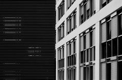 - - - half-hidden - - - (christikren) Tags: landhaus austria architecture blackwhite building christikren facade geometry lines monochrome noiretblanc offices panasonic photography sw dark black urban city windows contrast