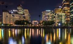 La Defense ,Paris at Night (andreasmally) Tags: la defense paris water wasser buildings architektur gebäude france frankreich