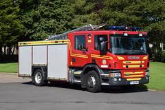 Humberside - YJ13GOK - Bridlington - WrL (Wholetime) (matthewleggott) Tags: humberside fire rescue service engine appliance bridlington yj13gok scania emergency one wrl water ladder