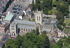 St Edmundsbury Cathedral in Bury St Edmunds - Suffolk aerial (John D Fielding) Tags: stedmundsbury cathedral church abbey burystedmunds burysaintedmunds suffolk eastanglia above aerial nikon d810 hires highresolution hirez highdefinition hidef britainfromtheair britainfromabove skyview aerialimage aerialphotography aerialimagesuk aerialview drone viewfromplane aerialengland britain johnfieldingaerialimages fullformat johnfieldingaerialimage johnfielding fromtheair fromthesky flyingover fullframe