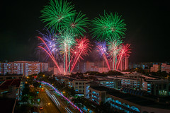 National Day Celebrations Fireworks Display! (BP Chua) Tags: sengkang hougang singapore night firework fireworks colours nikon nikondf landscape house residential
