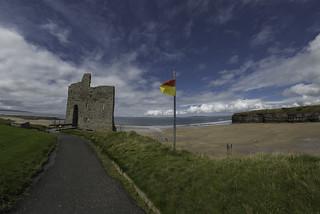 castle ruins in Ballybunion