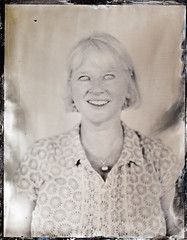 Sandra (fitzhughfella) Tags: wetplate tintype tinplate collodion ether silvernitrate largeformat 4x5 graflexspeedgraphic kodakaeroektar