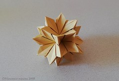 Pyro 36 (mancinerie) Tags: origami modularorigami paperfolding papiroflexia papierfalten francescomancini mancinerie polyhedra truncated octahedron