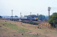 Hungerford UK     1976 (keithwilde152) Tags: br westerns thousands class52 d1022 hungerford common berkshants uk 1976 town landscape countryside passenger train tracks diesel locomotives outdoor summer