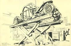 Bugatti Type 50, chez-H.H. Services - Strasbourg (lolo wagner) Tags: car voiture bugatti strasbourg atelier carrosserie carrossier croquis sketch