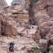 Climbing Petra, Jordan, 20100922