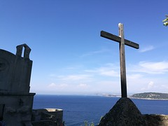 Silence (davidepremoselli) Tags: sea sky christ church cross jesus castle island isola trip holiday hope