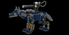 timber wolf mech 7sr(4) (demitriusgaouette9991) Tags: lego ldd army military wolf runner mecha