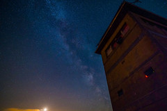 Milky Way at the Old Watchtower - Saxonia, Germany (dejott1708) Tags: milky way long exposure night shot watchtower east west border borderline