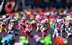 Stampede Color Riot (Jetcraftsofa) Tags: nikonf3 micronikkor5528 ektar100 35mm slr filmphotography macro manualfocuslens bokeh stampede color riot herd mob figurines woodenanimals availablelight