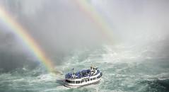 In Between (Vanessa wuz Here) Tags: 7dwf landscape niagarafalls rainbow niagara ontario waterfalls mists boat copyrightvanessabartosek