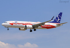 SP-LVD Boeing 737 Max LOT (@Eurospot) Tags: splvd boeing 737max lot lebl bcn barcelone