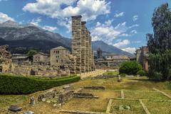 Un teatro tra le montagne (forastico) Tags: forastico d7100 aosta valledaosta teatro roma teatroromano resti anticaroma anfiteatro montagna