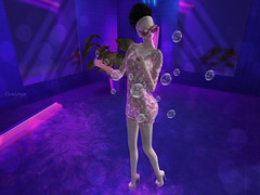 Entrance no.294 (Curiosse) Tags: short dress fun funky bubbles white pink blanc rose rosa blanco vestido corto new release 2018 luxeparis swank event