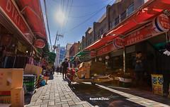 Busan, Korea (Albert Photo) Tags: busan korea southkorea film festival street shops seaport transportation shipping bustling port seafood outdoor vehicle