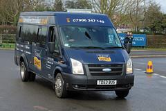 Hoyland (Travel Direct), Sheffield TD53 BUS, Ford Transit outside Cheltenham racecourse (majorcatransport) Tags: yorkshirebuses hoylandsheffield ford fordtransit cheltenham