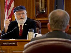 Rep. Paul Seaton - House Finance – April 23, 2018. (KTOO Public Media) Tags: rep paul seaton house finance committee bill 331 hb331 tax credits oil companies
