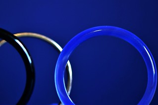 blue ring made out of stone