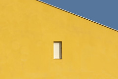 White window, yellow wall (Jan van der Wolf) Tags: map181224vvv yellow geel facade window raam fuerteventura gevel gebouw geometric geometry geometrisch geometrie