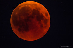 Bloody Moon - In the shadow (1) (Norbert Helbig) Tags: mondfinsternis night blutmond blood bloody moon mond himmel heaven sky europa europe germany deutschland space weltall kosmos universum nikon d7200