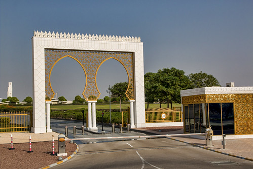 Vehicle check point for entry into Sheikh Zayed Mosque, Abu Dhabi