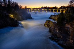 grand falls power (Port View) Tags: fujixe3 grandfalls newbrunswick nb canada cans2s 2018 landscape river stjohnriver water flow waterfall rocks eveining sunset light power hydroelectric