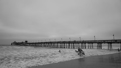 A gloomy day on the beach with friends is better than any day at work. (Katarzyna Aleksandra) Tags: pacific surfing surfers california beach pier