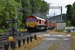 66124 Milford Junction (Paul Baxter 362) Tags: class66 66124 dbcargo dbc dbs dbschenker westcoastmainline wcml milfordjunction milford
