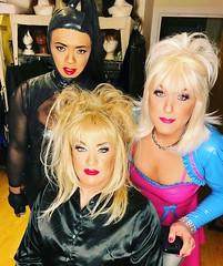 Heading to Torture Garden (Sissy kaylah) Tags: torturegarden tg trans tranny transvestite rubber satin blonde