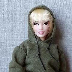 Yuna looks better as a blonde (FreeRangeBarbie) Tags: barbie fashionista blonde curvybarbie diorama miniature diy