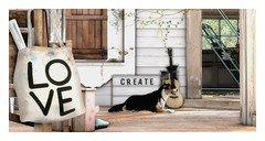 LOVE - CREATE - LIFE (Loegan Magic) Tags: secondlife dog bag sign room create love window floor doorway guitar sol