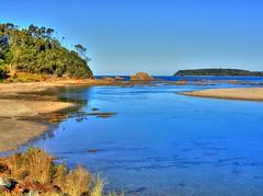 Candalagan creek (elphweb) Tags: hdr highdynamicrange nsw australia seaside sea ocean water beach sand sandy brouleeisland island creek candalagancreek candalagan