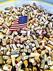 Put a Cork In It! (Halvorsong) Tags: usa america americana composition contrast art classic wine cork corks vintage old flag patriotism oldglory starsandstripes explore discover halvorsong photography photosafari wow culture texture textured redwhiteandblue leisure pleasure goodlife dolcevita lifeisgood consumption country winecountry