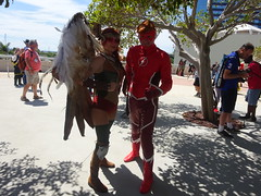Hawkgirl and the Flash (Sconderson Cosplay) Tags: comiccon sdcc san diego 2018 cosplay flash wally west rebirth dc comics saturday day 3 hawkgirl shiera sanders kendra saunders