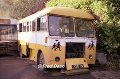 Bus Eireann SS732 (732ZI). (Fred Dean Jnr) Tags: capwelldepotcork buseireanncapwelldepot cork buseireann bedford vas ss732 732zi zi capwell september1997 scrap vanhool mcardle msl