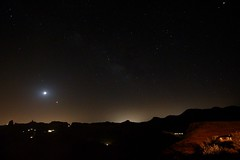 Eclipse, Planets and Stars (rvr) Tags: roque nublo bentayga moon eclipse lunar grancanaria canaryislands mars saturn jupiter