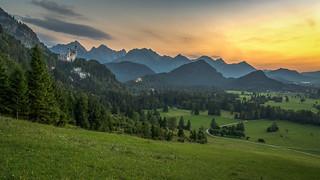 Allgäu Sunset Panorama
