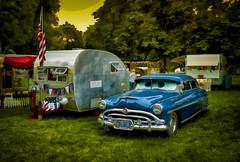 Editor (Steve Walser) Tags: trailer traveltrailer camping rv car hudson hudsonhornet sunset evening
