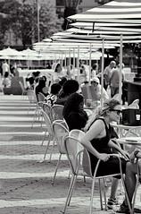 Cafe on Terrace, Wnter Garden/North Cove (sjnnyny) Tags: sjnnyny people cafe lowermanhattan nyc brookfieldplace wintergarden northcove summer sonya6300 adaptednikkor105mmf28ais stevenj batteryparkcity environmentalportrait