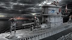 U-96 in Action (WesternOutlaw) Tags: u96 dasboot collectorsshowcase 130 130scale toysoldiers submarine wwii kriegsmarine kriegsmarines
