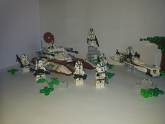Commander Vill and the 501st are on the search (影Shadow98) Tags: lego star wars commander vill clone trooper 501st legion