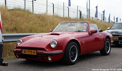 TVR S3 1991 (XBXG) Tags: kf775h tvr s3 1991 tvrs3 290s v6 red rood rouge cabriolet cabrio convertible roadster tourer british race festival 2018 circuit zandvoort nederland holland netherlands paysbas youngtimer old classic car auto automobile voiture ancienne anglaise brits uk vehicle outdoor