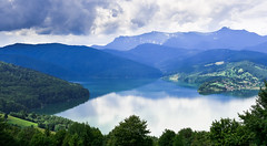 Calm (cosovan vadim) Tags: mountain landscape lake forest view sky clouds reflections blue nikon d750 2470mm f28 bicaz romania