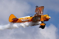 DSC_9692 copy (quintinsmith_ip) Tags: aerosuperbatics flyingcircus 'superstearmans stearmans plane formation flight smoke smoking orange white wingwalkers sunderland 2018