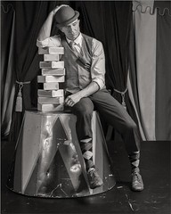 Portrait of Kirk Marsh (Michael Patnode) Tags: monochrome portrait people patnode mikepatnode bw blackandwhitephotography blackandwhite person art artphotography fineart fineartphotography creativephoto kirkmarsh nikond500s clown theater performance juggling acting circus venardoscircus