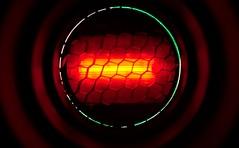 Alien Spaceship (LuziferFA) Tags: light lights red reds macro monday macromondays photography gear photographygear gel snoot grid honeygrid abstract flash flashlight speedlight rot gitter wabe wabengitter creative alien ufo space ship spaceship raumschiff tunnel