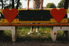 Bench of Love (dejankrsmanovic) Tags: bench public park partof girl love concept conceptual thing object still life seat empty hand day outdoor lifestyle structure nature climate weather summer valentinesday